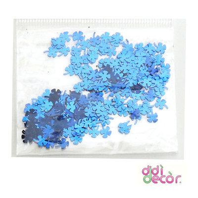 Paillettes metallizzate azzurre - quadrifoglio