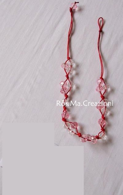 Collana con perline rosse