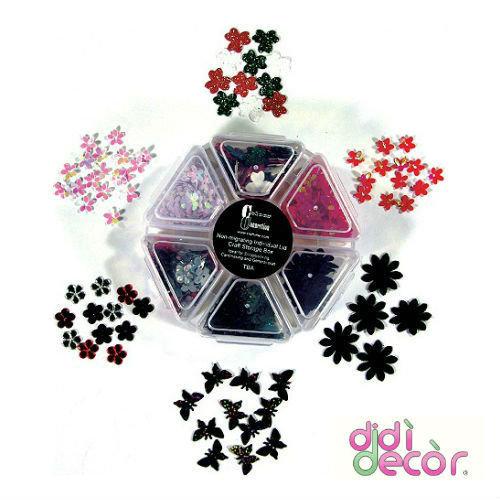 Box ESAGONO decorazioni assortite - Bianco/Rosso/Nero