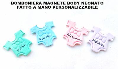 lotto stock 1 ciondolo charm o magnete fimo bomboniera neonato tutina body vestito bimba battesimo nascita piedini ciuccio biberon carrozzina
