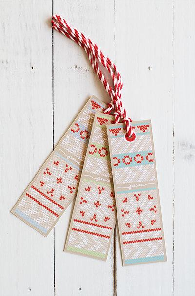 Set con 10 Tags di Natale