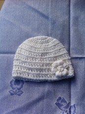 Cappellino di lana neonata 0-3 mesi