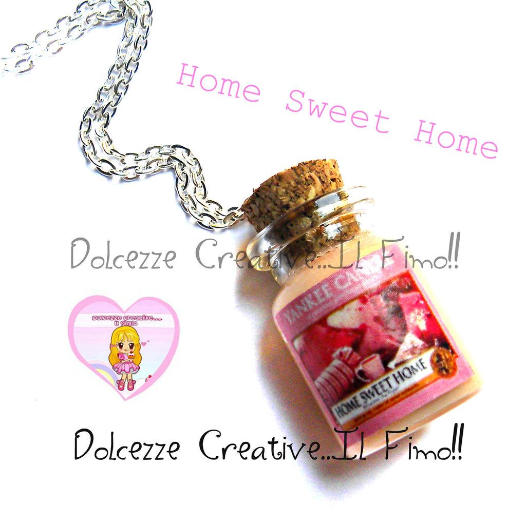 Collana Candela - Yankee Candle HANDMADE Home sweet home idea regalo