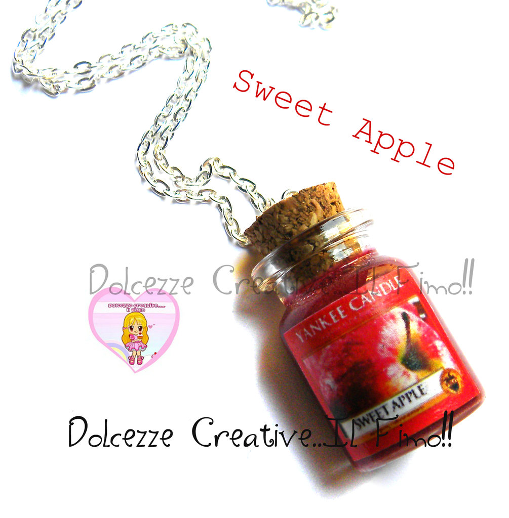 Collana Candela - Yankee Candle HANDMADE Sweet apple idea regalo
