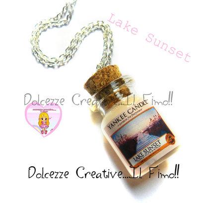 Collana Candela - Yankee Candle HANDMADE Lake sunset  idea regalo