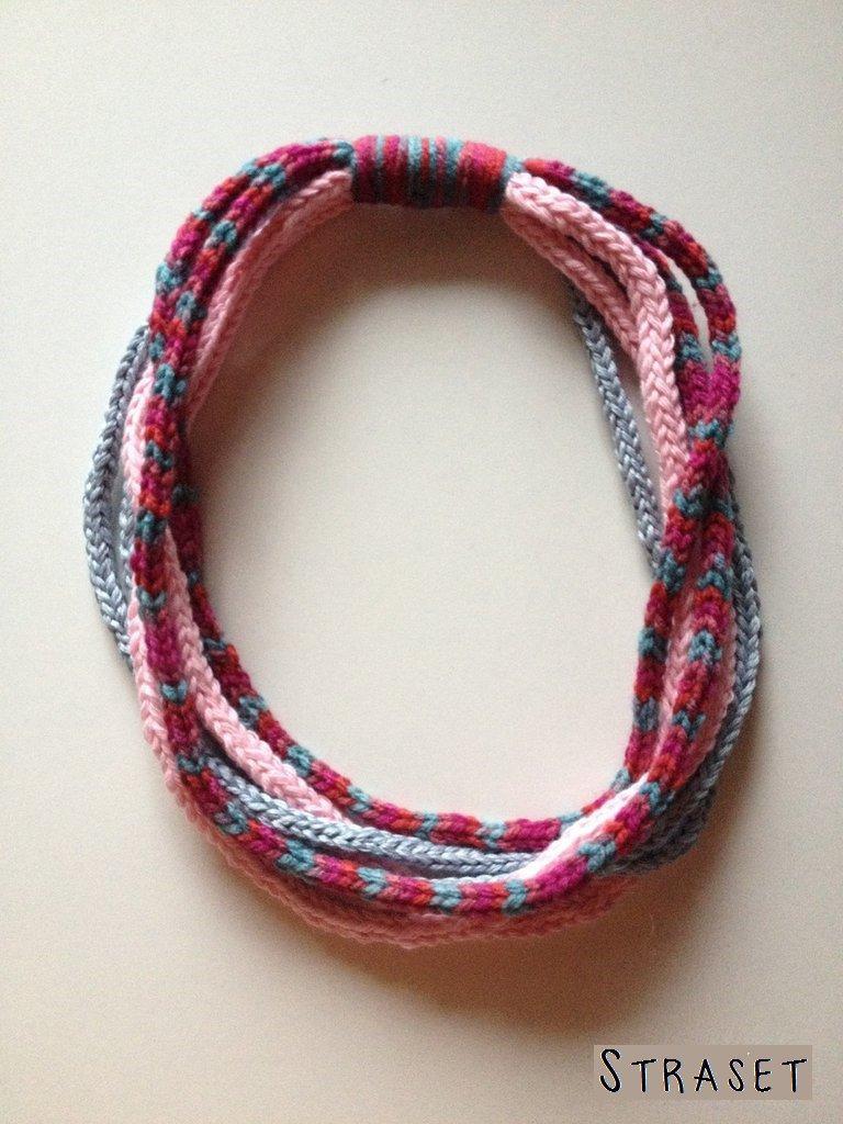 collana a tricotin