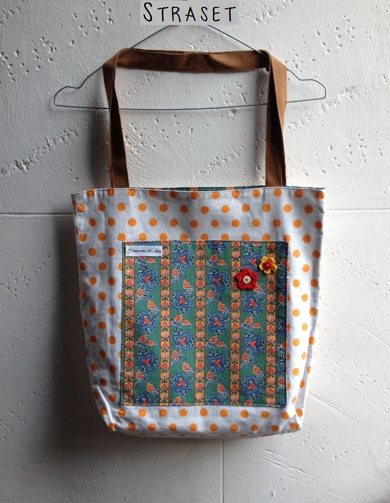 Shopper a fiori e pois