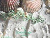 Bracciale in cotone e argento 925%