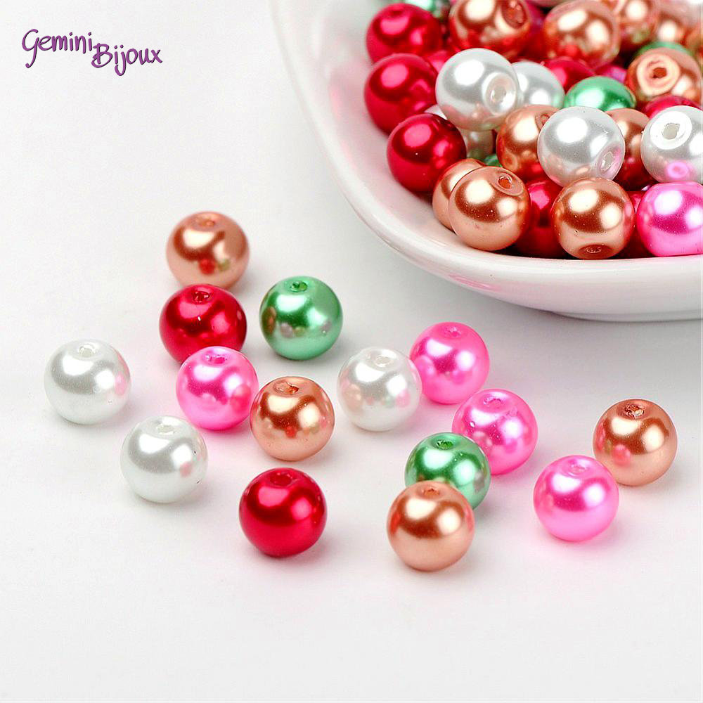 Lotto 50 perle Mix Christmas 8 mm.