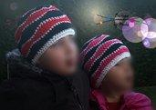 Berretto onde fatto ad uncinetto per i bambini
