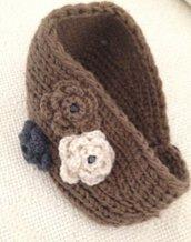 Fascia in lana per capelli color fango