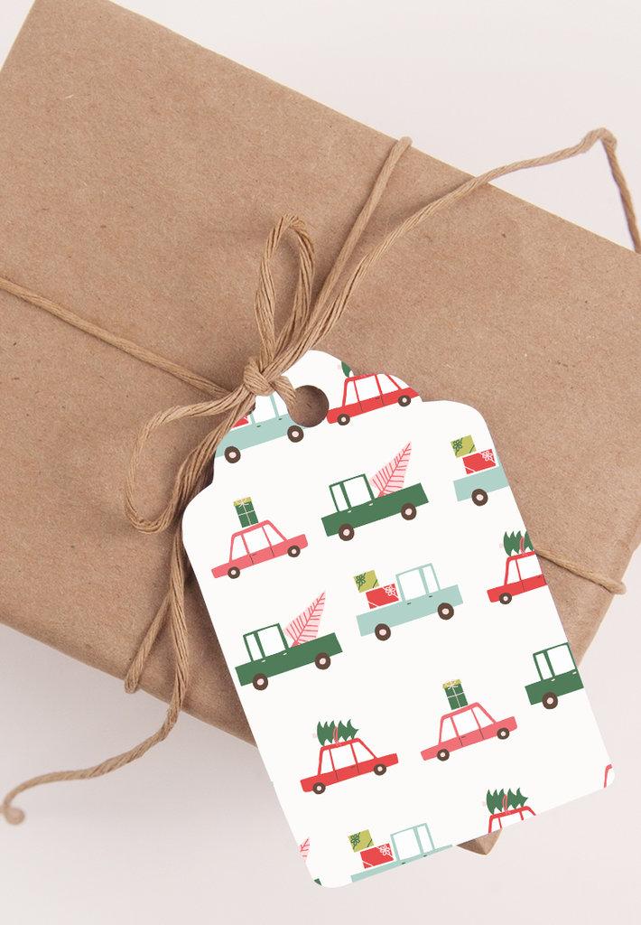 Kit con 8 Tags di Natale