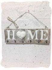 Portachiavi shabby da parete in legno: idea regalo per Natale