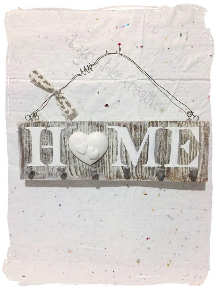 Portachiavi shabby da parete in legno idea regalo per - Portachiavi da parete ...