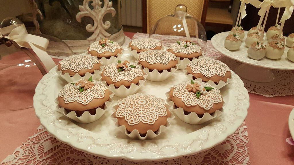 CUP CAKE SHABBY PER COMPLEANNO