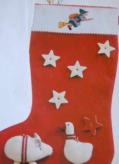 Calza Befana - Natale, con ricamo personalizzato e decorazioni natalizie
