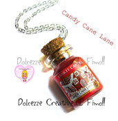 ☃ Natale In Dolcezze 2016 ☃Collana Candela - Yankee Candle Candy cane lane HANDMADE  idea regalo