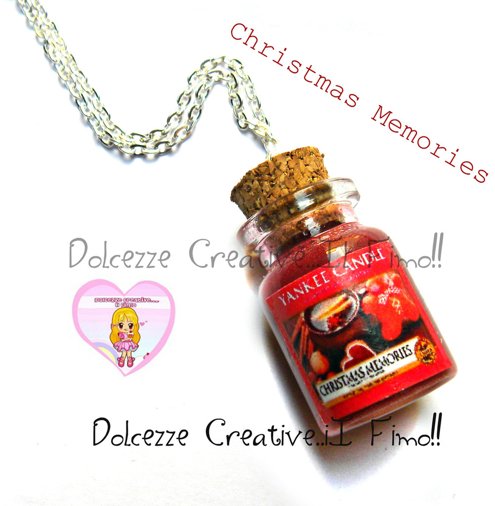 ☃ Natale In Dolcezze 2016 ☃Collana Candela - Yankee Candle Christmas Memories HANDMADE  idea regalo