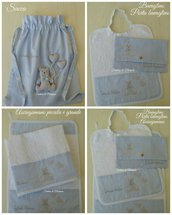 Set asilo bimbo - Sacca,asciugamani,bavaglino,portabavaglino