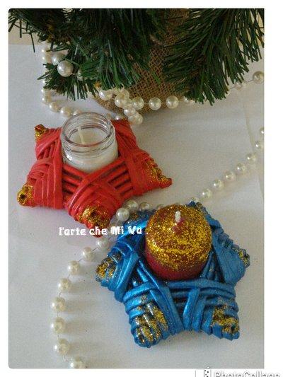 Stelle portacandele natalizie