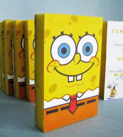 Originale invito di compleanno SpongeBob fatto a mano personalizzabile