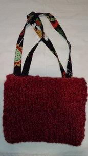 borsa di lana e stoffa