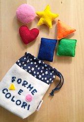 Gioco educativo forme e colori in feltro