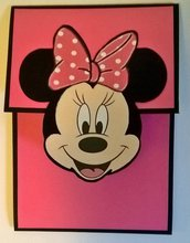 Invito Minnie fatto a mano per compleanno, battesimo, Baby shower