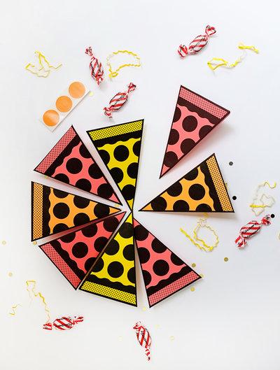 Set con 10 scatole in formato di Pizza (decorazioni compleanno)