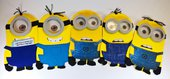 Simpatico Invito Minions 3D fatto a mano personalizzabile
