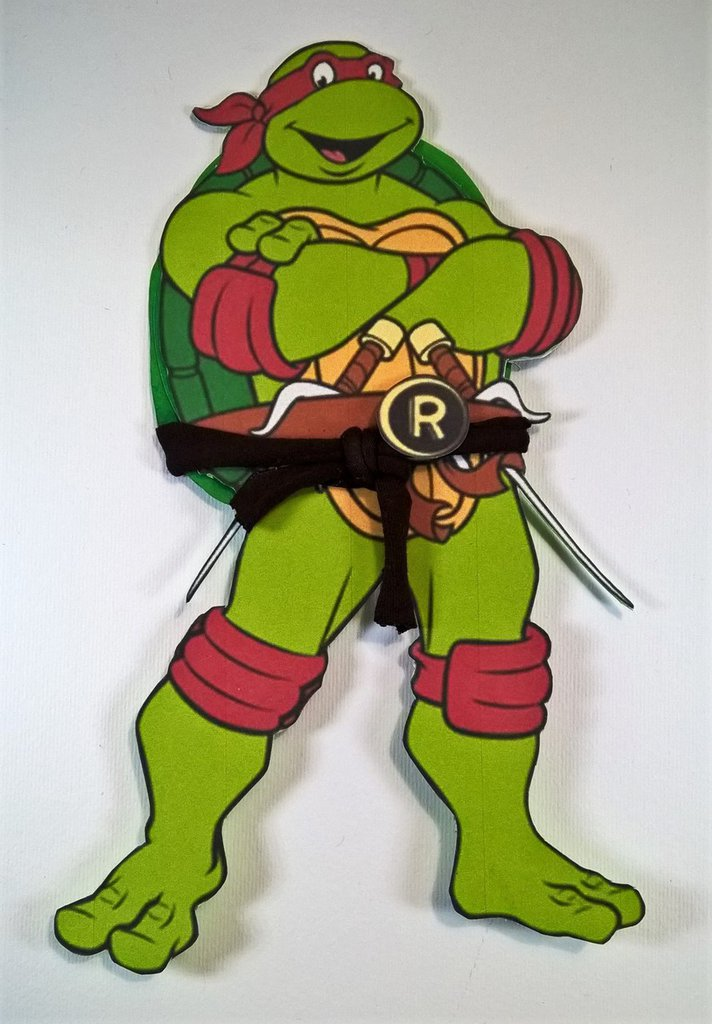 Inviti tartarughe Ninja fatti a mano per compleanni