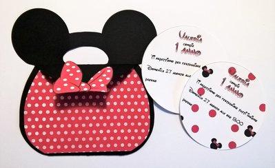 Invito festa di compleanno - borsetta Minnie