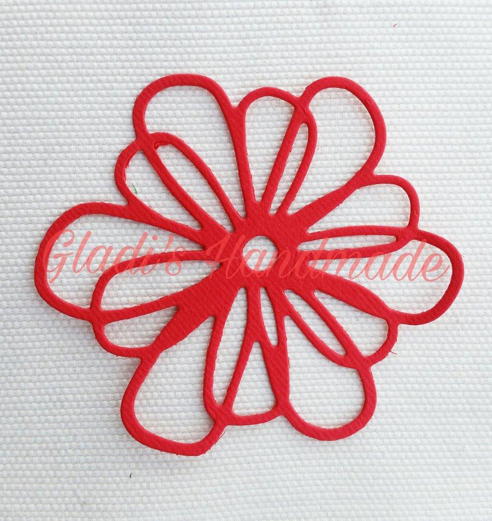 40 fiori bucati di cartoncino feste matrimonio di for Fiori di cartoncino