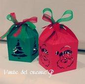 Scatola bomboniera (0,90pz) sacchetto porta-confetti Natale Albero idea regalo