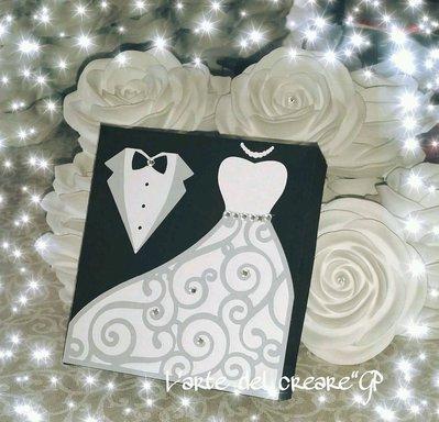Scatola bomboniera (0,80pz) sacchetto porta-confetti matrimonio nozze SPOSI
