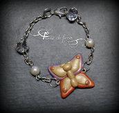 bracciale fimo| bracciale farfalla| butterfly bracelet| gioielli autunno| gioielli eleganti| gioielli fimo| polymerclay bracelet| gioielli| gioielli handmade