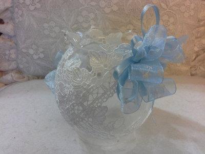 portacandele.in vetro sagomato