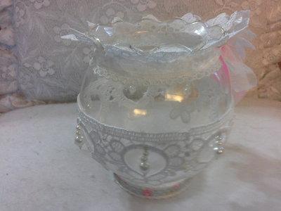 Porta candela in vetro