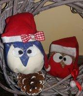 Gufetti natalizi decorativi
