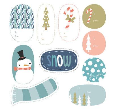 Set di Tags di Natale