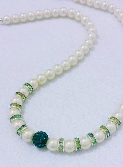 """Girocollo di perle e cristalli """"MagicoPa"""""""