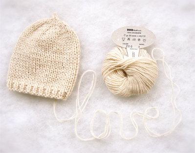 Cappellino neonato Cashmere 100% cappellino neonato lavorato a mano con lana cashmere 100%