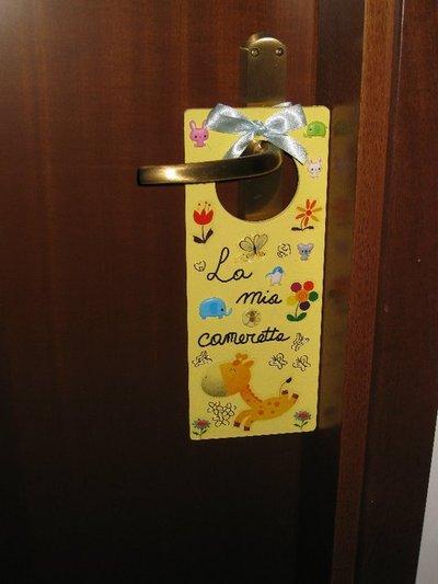 Targhetta per la porta della cameretta