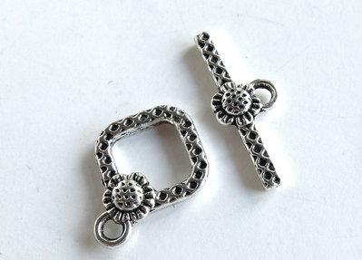 Chiusura per braccialetti in argento tibetano SAN7