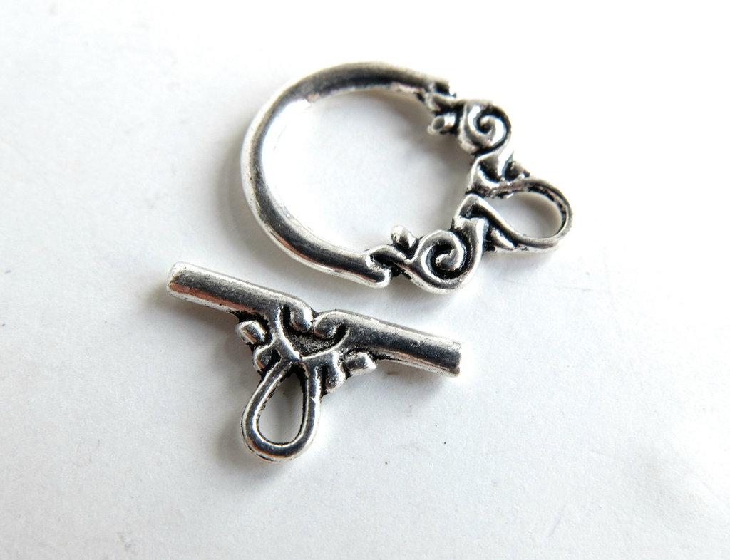 Chiusura per braccialetti in argento tibetano SAN8