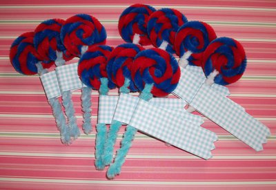 Lotto Lecca Lecca decorativi Handmade (10pz) - decorazioni, segnaposto e packaging creativo - Crazy Lollipop!