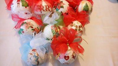 palla natalizia decoupage