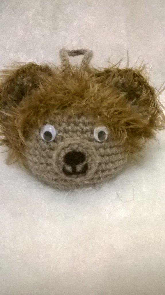 palla orso peloso da appendere, amigurumi, idea regalo