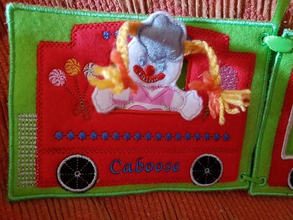 Libro morbido : Little Train Gli animali del circo Quiet Book
