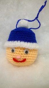 palla faccina da appendere, amigurumi, idea regalo